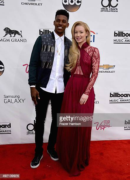 Professional basketball player Nick Young and singer Iggy Azalea attend the 2014 Billboard Music Awards at the MGM Grand Garden Arena on May 18 2014...