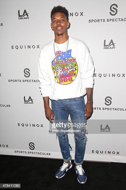 Professional basketball player Nick Young attends the 'Celebrity Basketball Spectacular' To Benefit Sports Spectacular at Equinox Sports Club West LA...