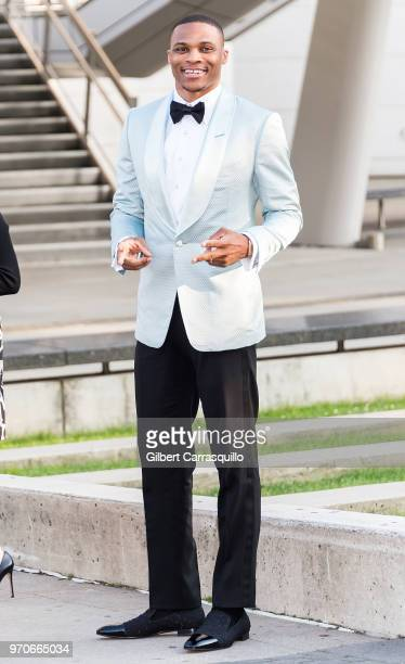 Professional basketball player Russell Westbrook is seen arriving to the 2018 CFDA Fashion Awards at Brooklyn Museum on June 4 2018 in New York City