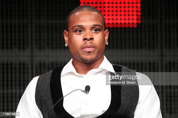 Professional basketball player Shannon Brown speaks during ESPN portion of the 2011 Summer TCA Tour at the Beverly Hilton on July 27, 2011 in Beverly...