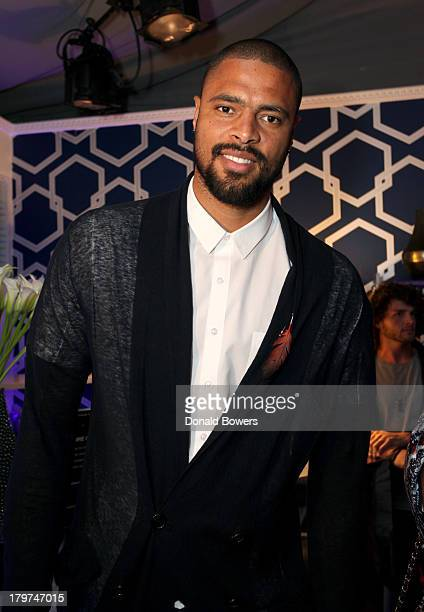 Professional basketball player Tyson Chandler attends the Samsung Galaxy Blue Room at MercedesBenz Fashion Week Spring 2014 Collections at Lincoln...