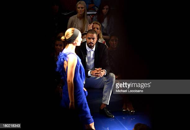 Professional basketball player Tyson Chandler attends the Vera Wang fashion show during MercedesBenz Fashion Week Spring 2014 at The Stage at Lincoln...