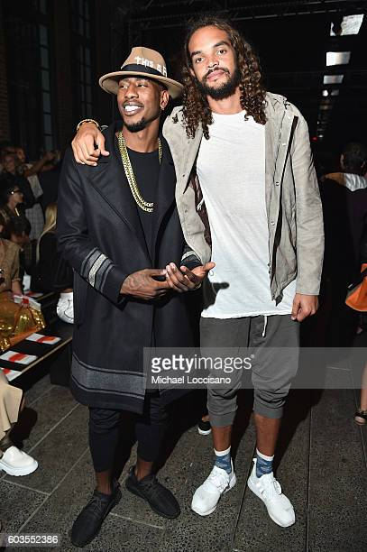 Professional Basketball Players Iman Shumpert and Joakim Noah attend the DKNY Women fashion show during New York Fashion Week The Shows September...
