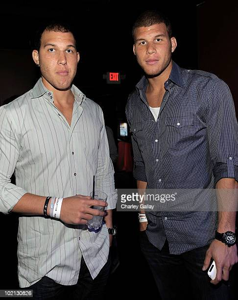 Professional basketball players Taylor Griffin and brother Blake Griffin attend the Bulletstorm E3 2010 VIP Afterhours Party at J Lounge on June 15...