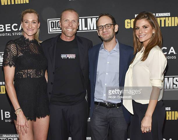 Professional beach volleyball player and Olympic gold medalist Kerri Walsh Jennings Casey Jennings director Greg Spitzer and actress Maria Menounos...