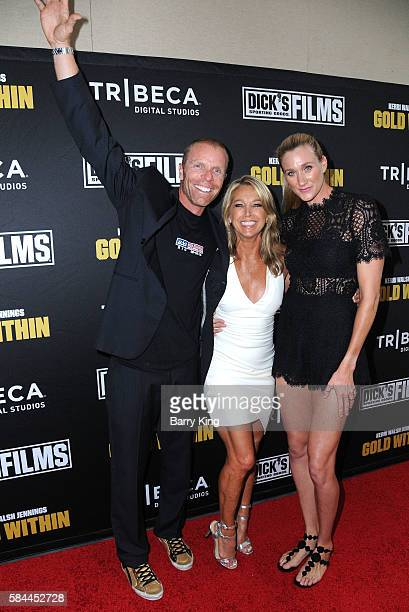 Professional beach volleyball player Casey Jennings trainer Denise Austin and olympian/professional beach volleyball player Kerri Walsh Jennings...
