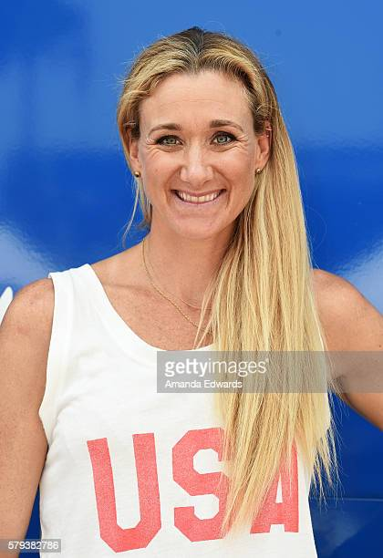 Professional beach volleyball player Kerri Walsh Jennings attends the Team USA Send Off event on July 23 2016 in Venice California