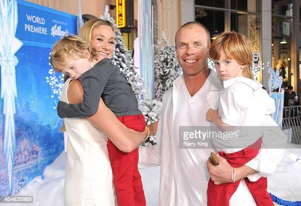 Professional beach volleyball player Kerri Walsh Jennings husband beach volleyball player Casey Jennings and their children Sundance Thomas Jennings...