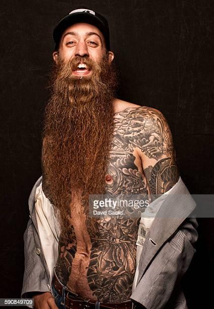 professional beard competitor - barba pelo facial fotografías e imágenes de stock