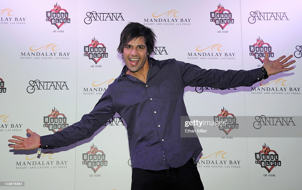 Professional BMX dirt jumper Ricardo Laguna appears at the House of Blues inside the Mandalay Bay Resort & Casino following a mud ceremony for recording artist Carlos Santana May 4, 2012 in Las Vegas, Nevada. The ceremony involved combining dirt from the town of Clarksdale in the Mississippi Delta with dirt from Bethel, New York from the site of the Woodstock Festival and mud from Santana's hometown of Autlan de Navarro, Jalisco in Mexico to symbolize his two-year residency at the music venue.