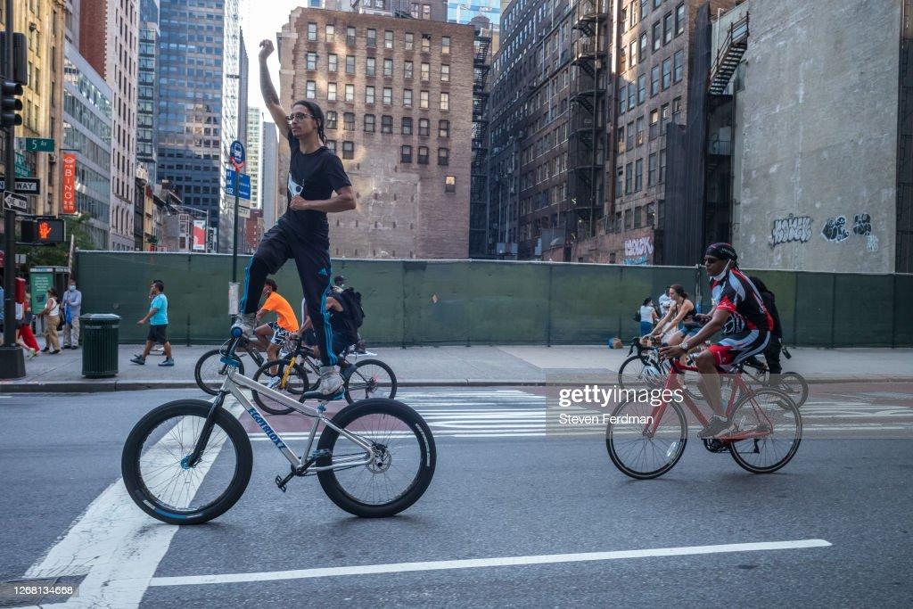 Bike Rides For Black Lives With Nigel Sylvester : News Photo