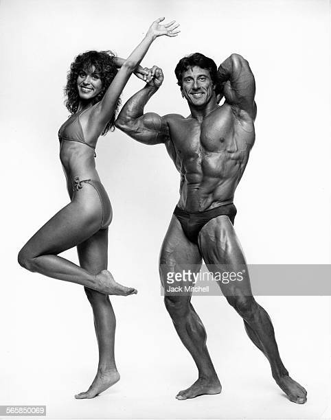 Professional bodybuilder Frank Zane and his wife Christine, 1982. Photo by Jack Mitchell/Getty Images.