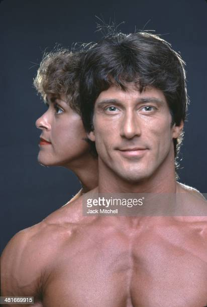 Professional bodybuilder Frank Zane photographed with his wife Christine in 1979.