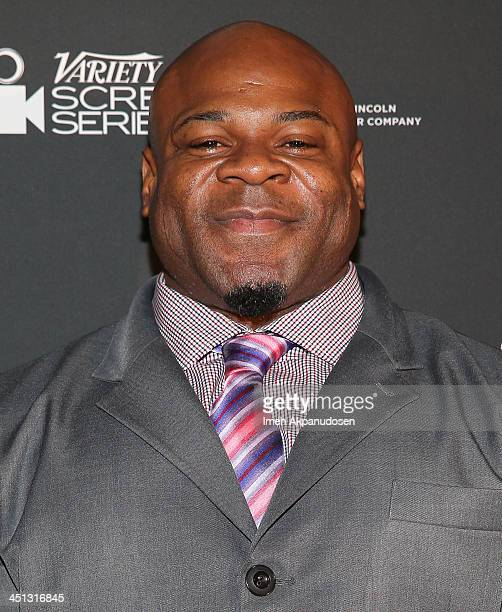Professional bodybuilder Kai Greene attends the 2013 Variety Screening Series presentation of Vladar Co's Feature Documentary 'Generation Iron' at...