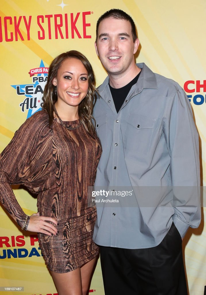 Professional Bowlers Sarah Rash (L) and Sean Rash (R) attend the 5th annual Chris Paul PBA All-Stars charity tournament at Lucky Strike Lanes at L.A. Live on January 7, 2013 in Los Angeles, California.