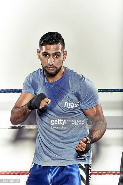 Professional boxer Amir Khan is photographed for Forever Sports magazine on September 22 2015 in London England