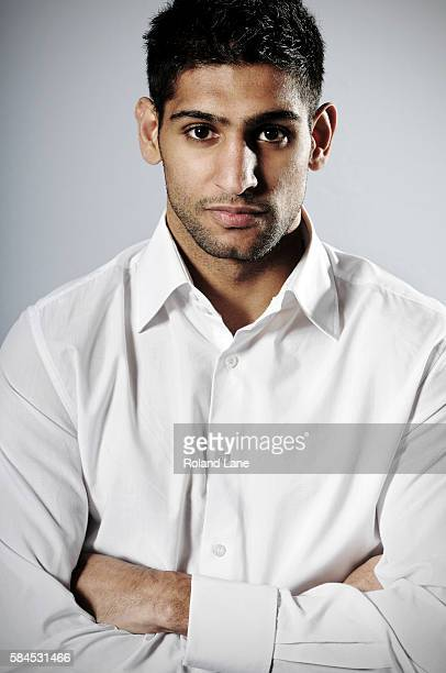 Professional boxer Amir Khan is photographed on December 23 2011 in Bolton England