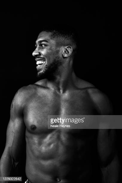 Professional boxer and heavyweight champion Anthony Joshua is photographed at his boxing club in Finchley on March 6, 2020 in London, England.