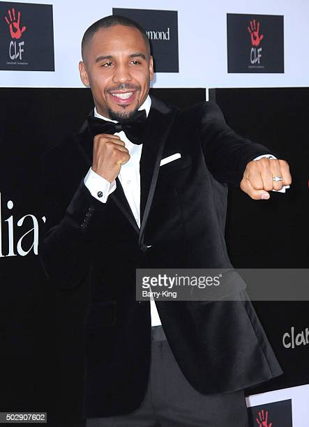 Professional Boxer Andre Ward attends the Rihanna And The Clara Lionel Foundation 2nd Annual Diamond Ball at The Barker Hanger on December 10 2015 in...