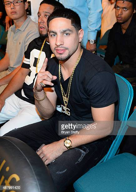 Professional boxer Danny Garcia attends the 'High Stakes Mayweather v Berto' fight presented by Showtime at MGM Grand Garden Arena on September 12...