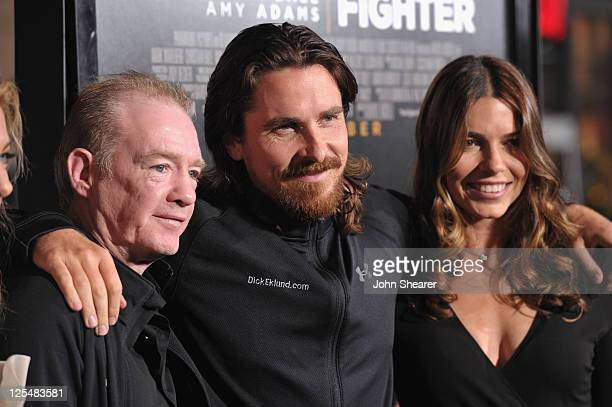 """Professional boxer Dicky Eklund, actor Christian Bale and wife Sibi Bale attend """"The Fighter"""" Los Angeles premiere on December 6, 2010 in Hollywood,..."""