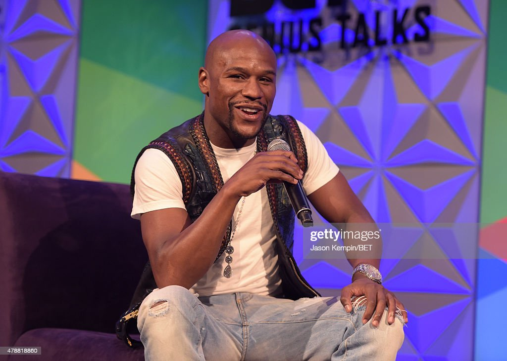 Professional boxer Floyd Mayweather, Jr. speaks onstage during the Genius Talks presented by AT&T during the 2015 BET Experience at the Los Angeles Convention Center on June 27, 2015 in Los Angeles, California.