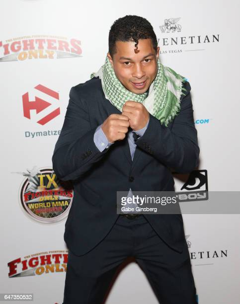 Professional boxer Hector Camacho Jr attends the ninth annual Fighters Only World Mixed Martial Arts Awards at The Palazzo Las Vegas on March 2 2017...