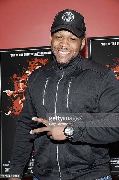 Professional boxer Jarrell 'Big Baby' Miller attends The Raid 2 special screening at Sunshine Landmark on March 17 2014 in New York City
