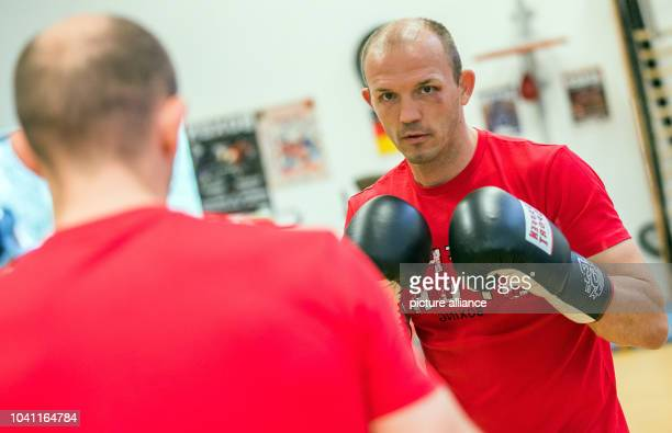 Professional boxer Jurgen Brahmer practices for his next fight for the world champion title against Nathan Cleverly in Schwerin Germany 21 September...