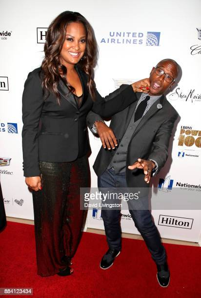 Professional boxer Laila Ali and comedian Tommy Davidson attend Ebony Magazine's Ebony's Power 100 Gala at The Beverly Hilton Hotel on December 1...