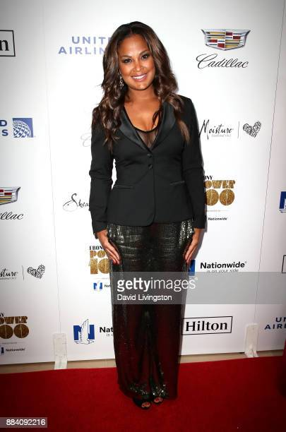 Professional boxer Laila Ali attends Ebony Magazine's Ebony's Power 100 Gala at The Beverly Hilton Hotel on December 1 2017 in Beverly Hills...