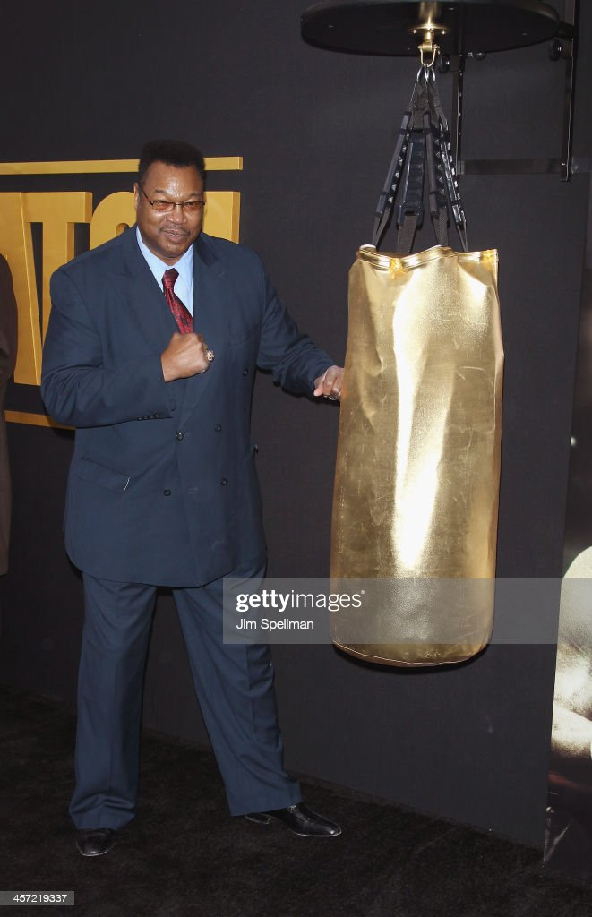 Professional Boxer Larry Holmes attends the 'Grudge Match' screening benifiting the Tribeca Film Insititute at Ziegfeld Theater on December 16, 2013 in New York City.