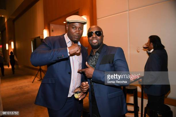 Professional boxer Lennox Lewis and Rapper Wyclef Jean attend Joe Carter Classic After Party at Ritz Carlton on June 21 2018 in Toronto Canada