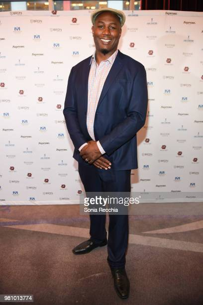 Professional boxer Lennox Lewis attends Joe Carter Classic After Party at Ritz Carlton on June 21 2018 in Toronto Canada