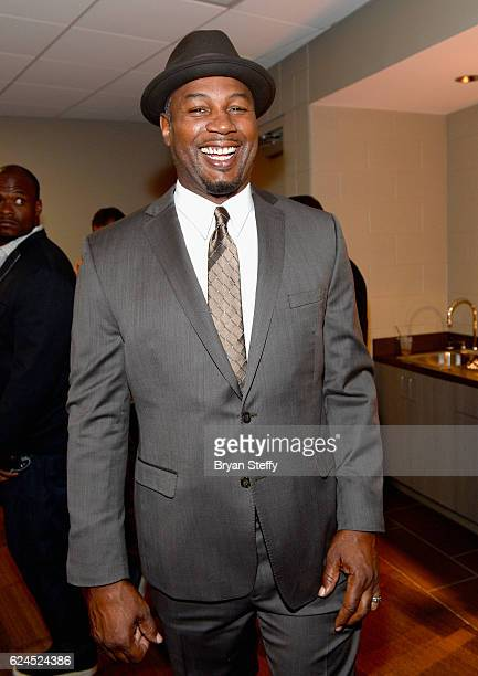 Professional boxer Lennox Lewis attends the D'USSE Lounge at Kovalev vs Ward at TMobile Arena on November 19 2016 in Las Vegas Nevada