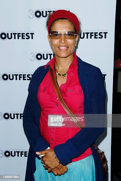 Professional boxer Lucia Rijker attends Outfest VIP Women's Soiree at Gallery Lofts on June 24 2012 in Los Angeles California