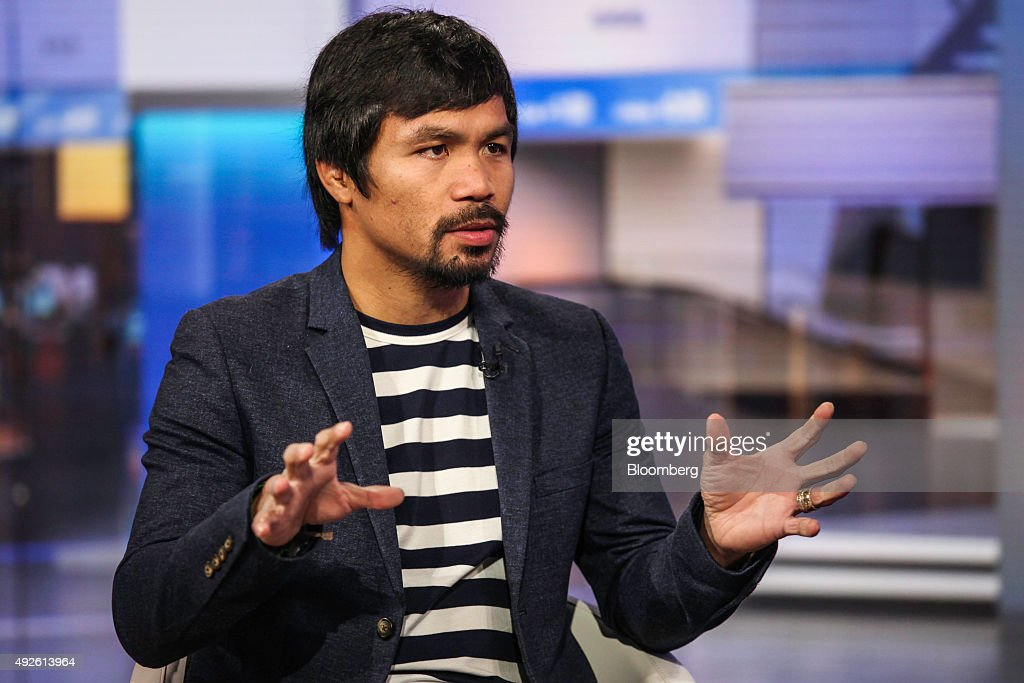 Professional Boxer Manny Pacquiao Interview : News Photo