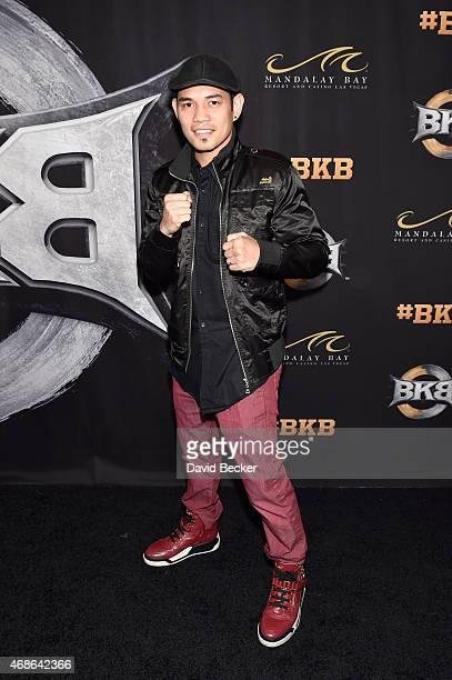 Professional boxer Nonito Donaire attends BKB 2 Big Knockout Boxing at the Mandalay Bay Events Center on April 4 2015 in Las Vegas Nevada