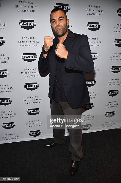 """Professional boxer Roberto Garcia attends Spike TV's announcement of it's new boxing series """"Premier Boxing Champions"""" on January 22, 2015 in Santa..."""