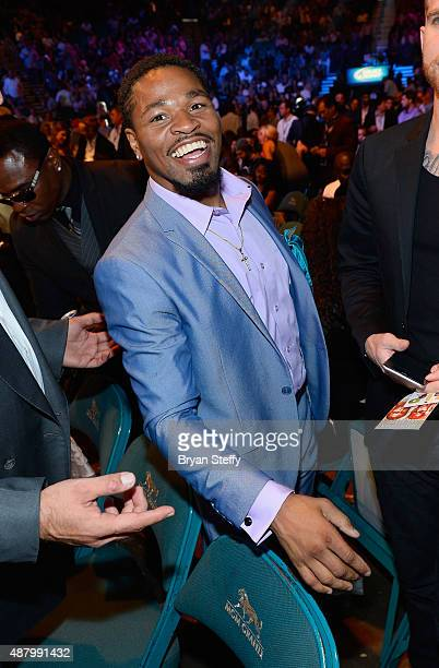 Professional boxer Shawn Porter attends the 'High Stakes Mayweather v Berto' fight presented by Showtime at MGM Grand Garden Arena on September 12...