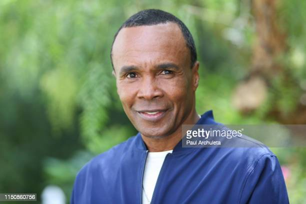 "Professional Boxer Sugar Ray Leonard visits Hallmark's ""Home & Family"" at Universal Studios Hollywood on May 21, 2019 in Universal City, California."