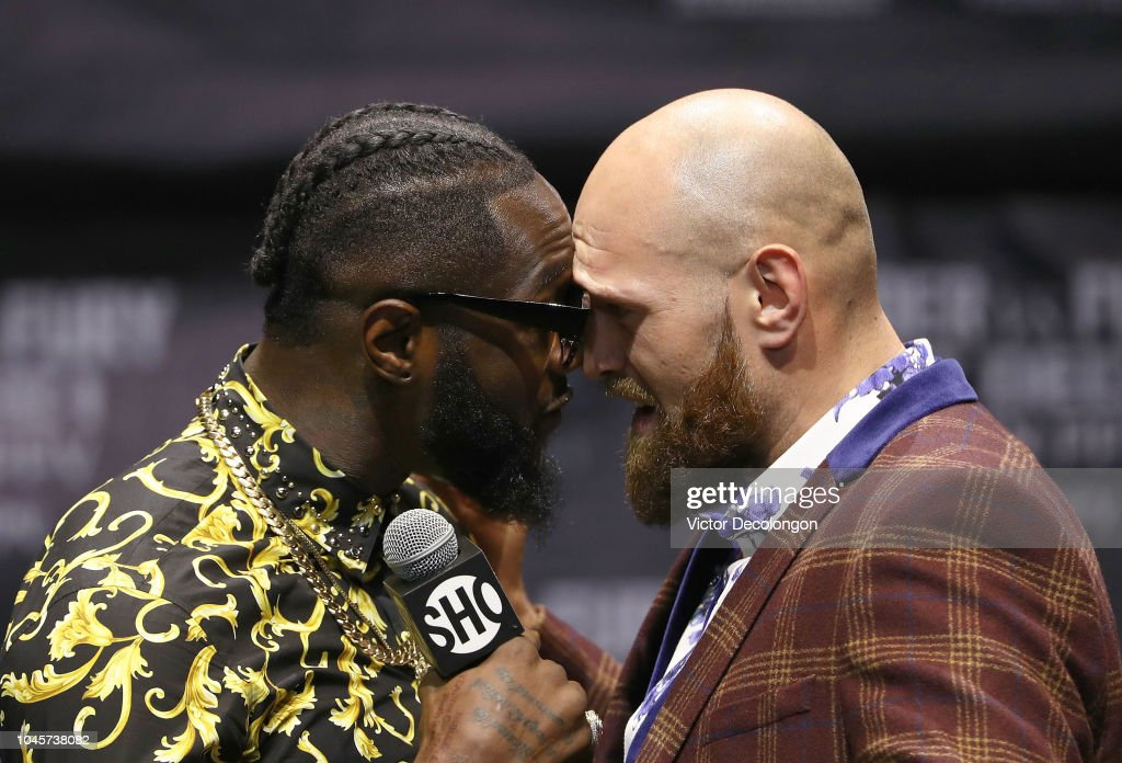 Deontay Wilder v Tyson Fury - Los Angeles Press Conference : News Photo