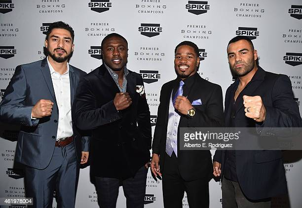 Professional boxers Josesito Lopez Andre Berto Shawn Porter and Roberto Garcia attend Spike TV's announcement of it's new boxing series 'Premier...