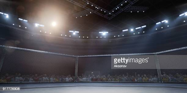 professional boxing ring in 3d - combat sport stock pictures, royalty-free photos & images