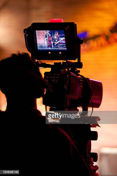 professional broadcast video camera in studio - television camera stock pictures, royalty-free photos & images