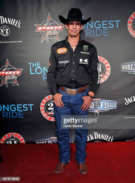 Professional bull rider JB Mauney attends the Professional Bull Riders Official PBR 21st Birthday Party at the Mandalay Bay Resort and Casino on...