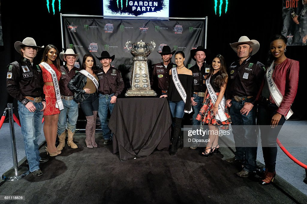 Professional Bull Riders and guests attend the 2017 Professional Bull Riders Monster Energy Buck Off at the Garden at Madison Square Garden on January 6, 2017 in New York City.