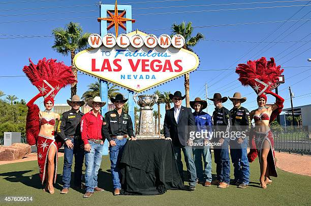 Professional bull riders Guilherme Marchi Mike Lee JB Mauney Professional Bull Riders Chairman and CEO Jim Haworth professional bull riders Joao...