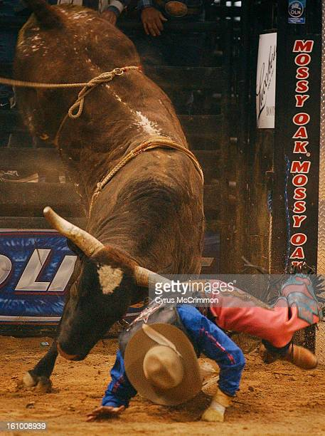 LAS VEGAS NEVADA THURSDAY NOVEMBER 6 2003 Professional Bull Riders have their fourth round at the 2003 PBR Built Ford Tough World Finals at the...