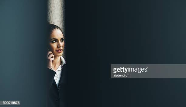 professional businesswoman on the phone - lech stock photos and pictures